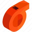 alert, equipment, referee, sports, tools, whistle icon