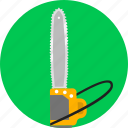 chainsaw, cutting forest, cutting wood, tool, work icon
