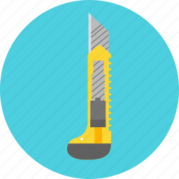 construction, cutlery, cutter, equipment, knife, repair, tool icon