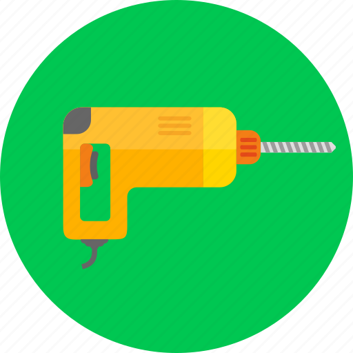 construction, drill, equipment, machine, repair, tools icon