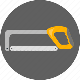 construction, hacksaw, metal, metal cutter, repair, saw, tool icon