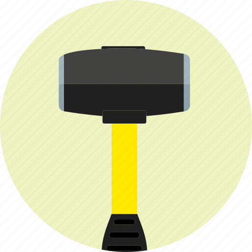 construction, equipment, hammer, repair, rubber hammer, tool icon