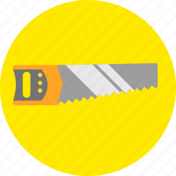 cut, handsaw, repair, sawing, tools, woodsaw, woodwork icon