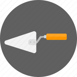 cement, construction, equipment, masonry, spatula, tools, trowel icon