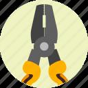plier, equipment, pliers, repair, service, tools