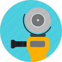construction, equipment, machine, power drill, rubbing, tools, work icon