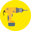 auger, borer, construction, drill, machine, screw, tools icon