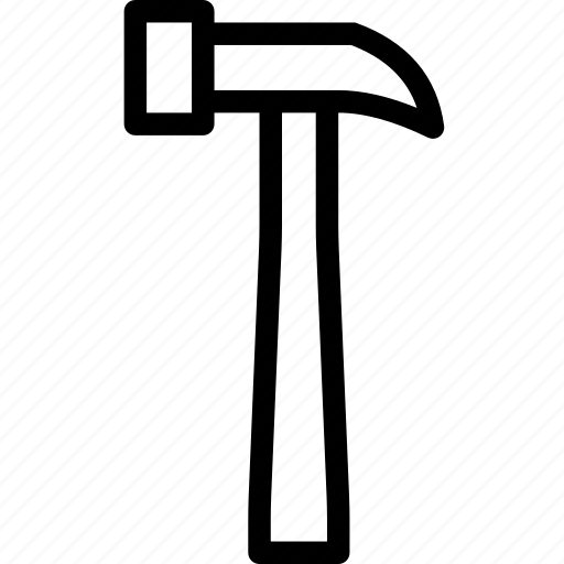 construction, diy, hammer, repair, tool icon