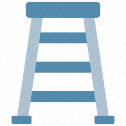 build, equipment, ladder, stair, steps, tools, up icon