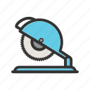 blade, carpenter, circular, electric, power, saw, tool icon