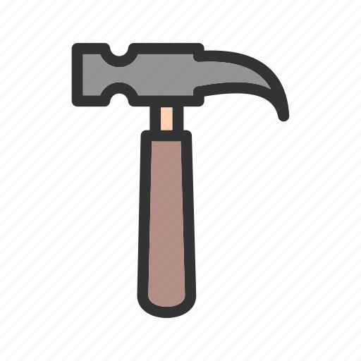 construction, equipment, hammer, hardware, repair, tool, work icon