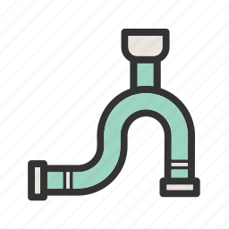industrial, line, oil, pipe, pipeline, piping, water icon