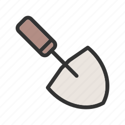 construction, equipment, instrument, metal, tool, trowel, work icon