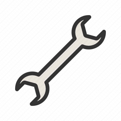 construction, equipment, hand, metal, object, work, wrench icon