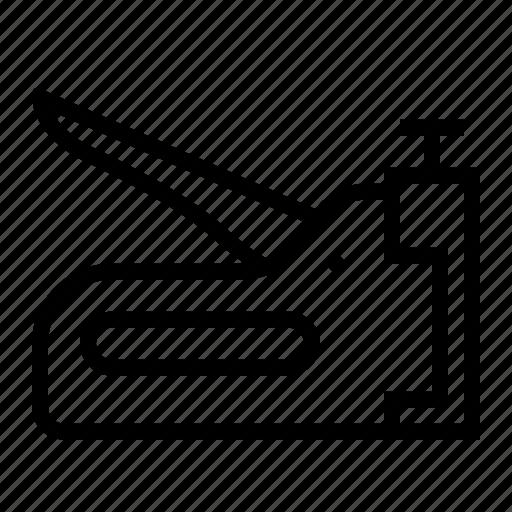 fastener, gun, staple, tools icon