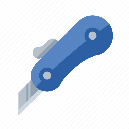 box, cutter, knife, razor, tools icon