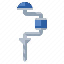 drill, hand, tools icon