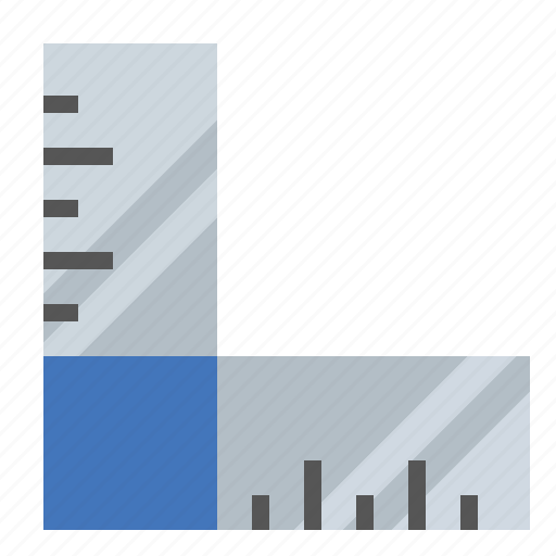 angled, ruler, tools icon