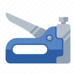 fastener, gun, staple, tools icon