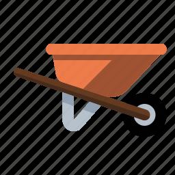 haul, tools, wheelbarrow icon