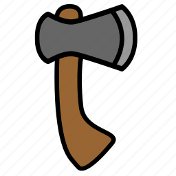 axe, chop, color, hatchet, tool icon
