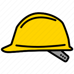 color, hard, hard hat, hat, helmet icon