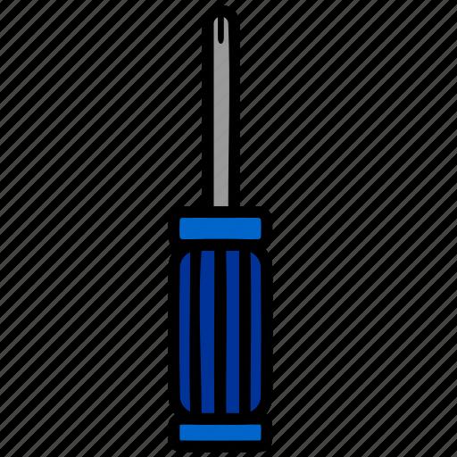color, driver, screw, screwdriver, tool icon