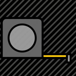 color, measure, tape, tape measure, tool icon