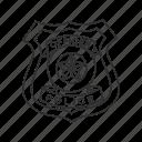 badge, officer's badge, policeman, policeman badge icon
