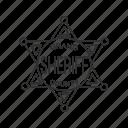 badge, officer, officer's badge, sheriff's badge icon