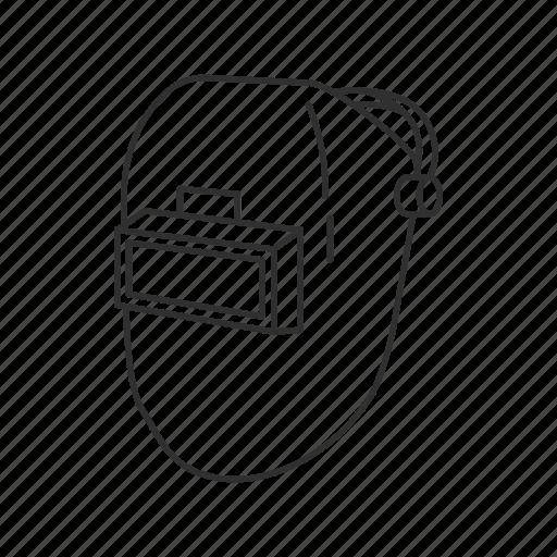 headgear, welder, welding, welding mask icon