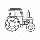 farm, farmer, farmer vehicle, tractor icon