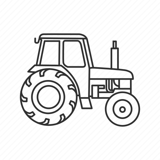 farm, farmer, farmer vehicle, tractor icon