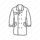 coat, detective, detective coat, garment icon