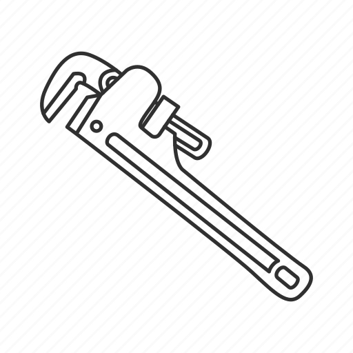pipe wrench, plumber tool, plumbing, wrench icon