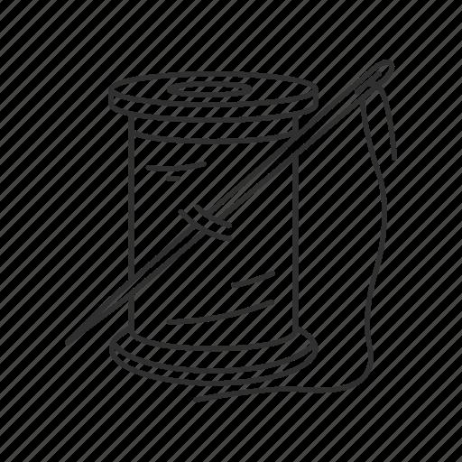 spool of thread, tailor, thread, thread and needle icon