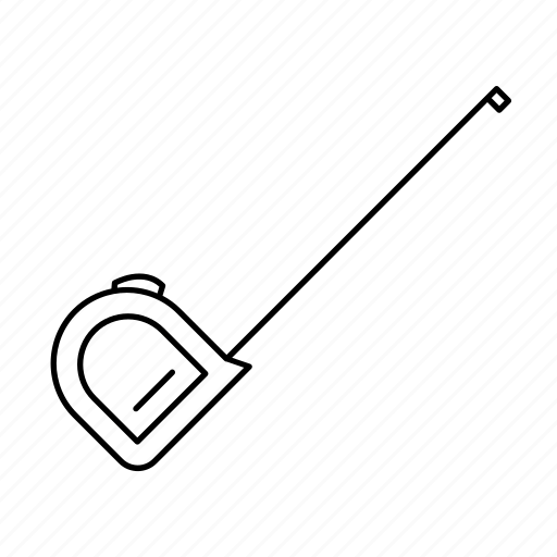 measure, ruler, tape, tool, work icon