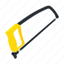building, construction tool, hacksaw, tool, tool supply, weapon, working tool icon