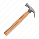 build, construction tool, hammer, tool, tool supply, weapon, working tool icon