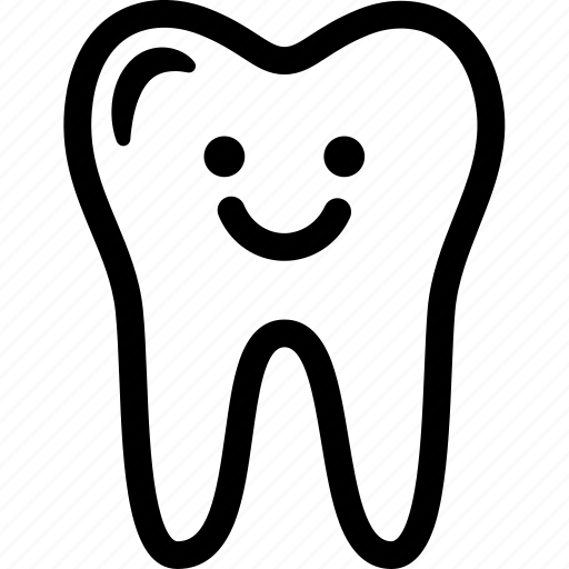 clean, dental, expression, happy, smile, tooth icon