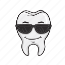 dental, smiley, tooth, dentist, cartoon, emoji icon
