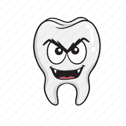 cartoon, dental, dentist, emoji, smiley, tooth icon