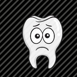 cartoon, dental, dentist, emoji, smiley, tooth icon