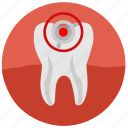 caries, dental, health, mouth, pain, tooth icon