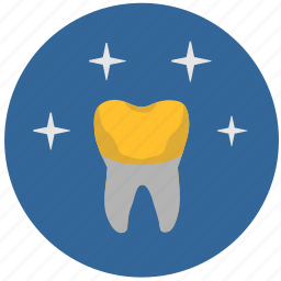 crown, dental, gold, implant, stomatology, tooth, tooth implant icon