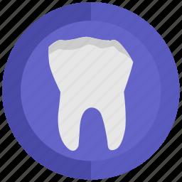 broken, health, stomatology, tooth icon