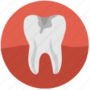caries, dental, health, implant, tooth, tooth implant, white icon