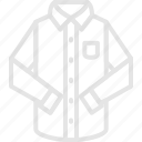 apparel, clothes, long, sleeve, top icon