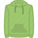 apparel, clothes, hoodie, top icon