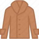 apparel, clothes, coat, leather, top icon